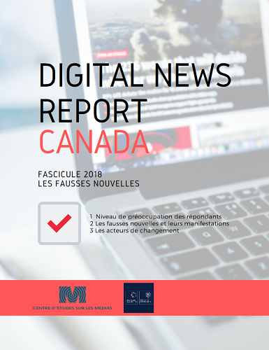 Page couverture du document Digital news report.