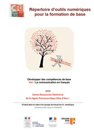 Page couverture du Répertoire d'outils numériques pour la formation de base : développer des compétences de base